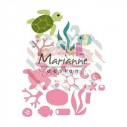 Fustella metallica Marianne Design Collectables sealife by Marleen