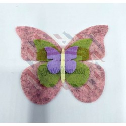 Fustella M Tris di farfalle bordi lisci
