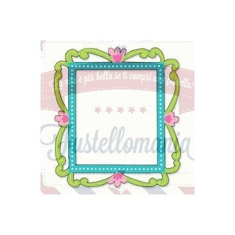 Fustella Sizzix Originals Cornice con fiori e vite