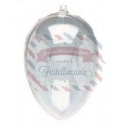 Uova di plastica trasparente apribile 2 parti - 8 cm
