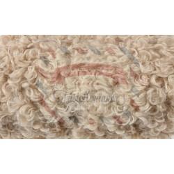 Nastro peluche riccio colore beige 2 mt x 22 cm