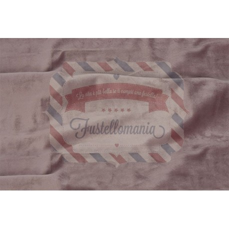 Velluto colore rosa antico 50x70 cm