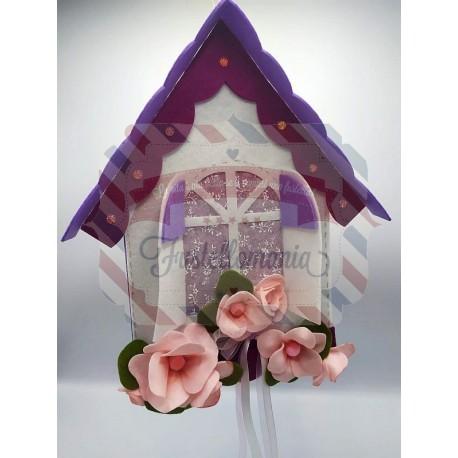 Fustella A4 Casetta con balcone fiorito kit 2 fustelle