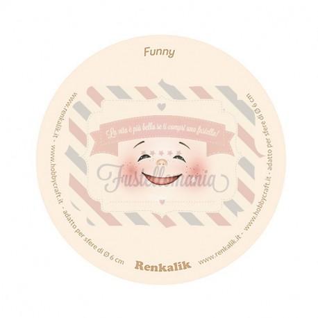 Viso stampato su tessuto Funny 13 cm per sfere da 6 cm
