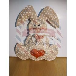 Fustella L Coniglio con fiocco e cuore