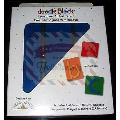 Fustella Sizzix Alfabeto Doodle Block minuscolo