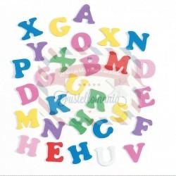 Fustellati 180 pezzi Lettere alfabeto in fommy adesive
