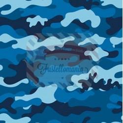 Tessuto per mascherine Interlock 50x40 cm camouflage