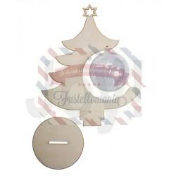 Joy Crafts Albero di Natale con pallina 8 cm