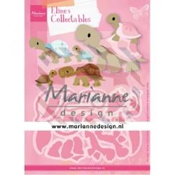 Fustella metallica Marianne Design Collectables Eline's Turtles
