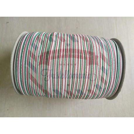 Nastro elastico tricolore Italia 7 mm 1 metro