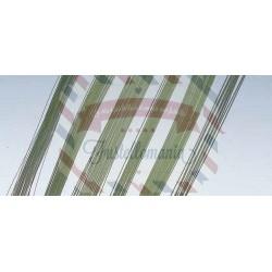 Filo di ferro 0,4 mm x 30 cm 60 pezzi colore verde