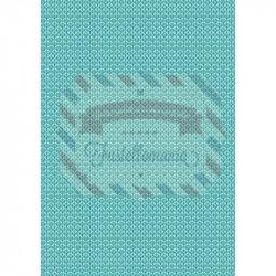 Tessuto 100% cotone 45x50 cm retro blue vintage