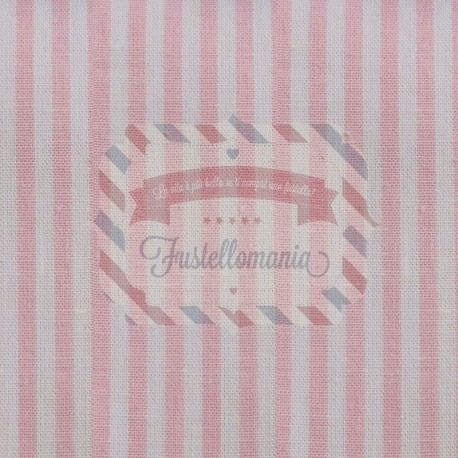 Tessuto 100% cotone 45x50 cm basic light pink striped