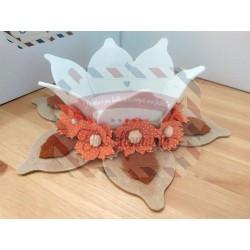 Fustella XXL Cestino petaloso con fiore e foglia