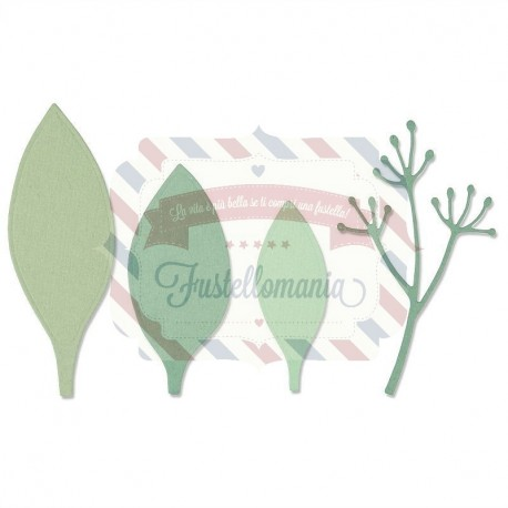 Fustella Sizzix Thinlits set 4pk elegant leaves