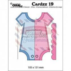Fustella metallica Cottage Cutz Cardzz 19 Pagliaccetto
