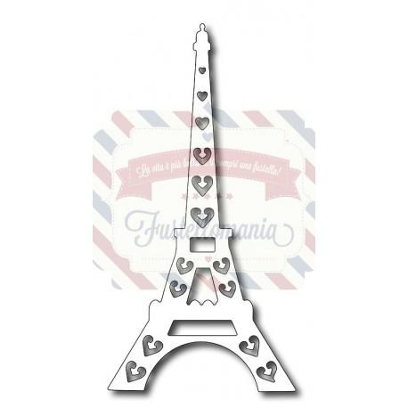 Fustella metallica Torre Eiffel con cuori