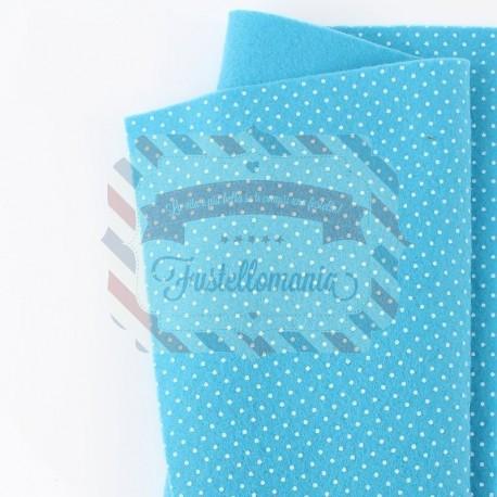 Pannolenci pois 50x45 cm colore turchese