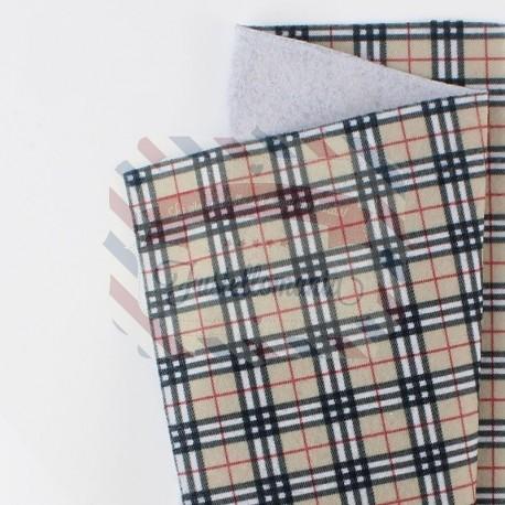 Pannolenci scozzese 50x45 cm colore beige