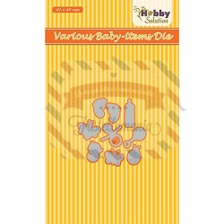 Fustella metallica Nellie's Choice Baby range Various baby items