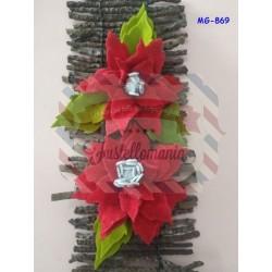 Fustella L Stella di Natale con foglia e pistillo