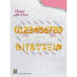 Fustella metallica Nellie's Choice Numbers & punctuation
