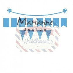 Fustella metallica Marianne Design Creatables bunting banners