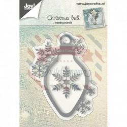 Fustella metallica Joy! Crafts Palla di Natale con fiocco di neve