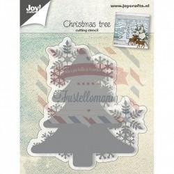 Fustella metallica Joy! Crafts Christmas tree with snowflakes