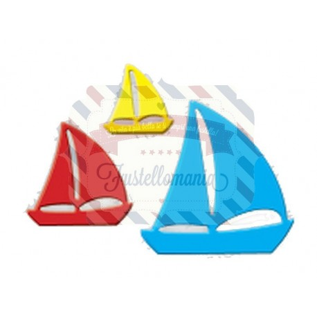 Fustella metallica Barche a vela