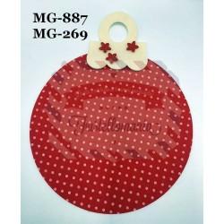 Fustella M Supporto con fiore per palla di Natale