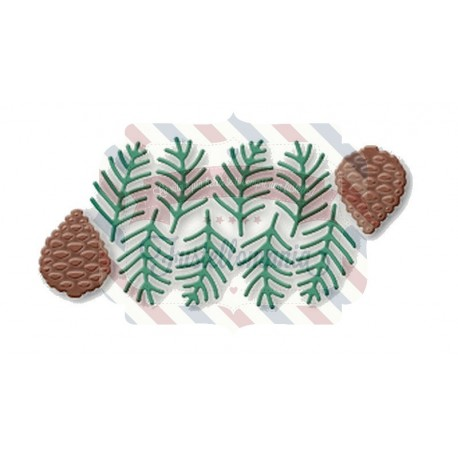Fustella metallica Pigne e aghi di pino