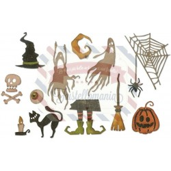 Fustella Sizzix Thinlits Frightful Things by Tim Holtz