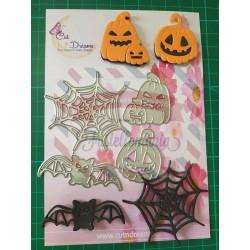 Fustella metallica Halloween Ragnatela zucche pipistrello