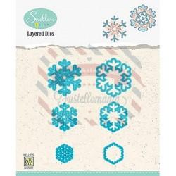 Fustella metallica Nellie's Choice Snowflakes 02