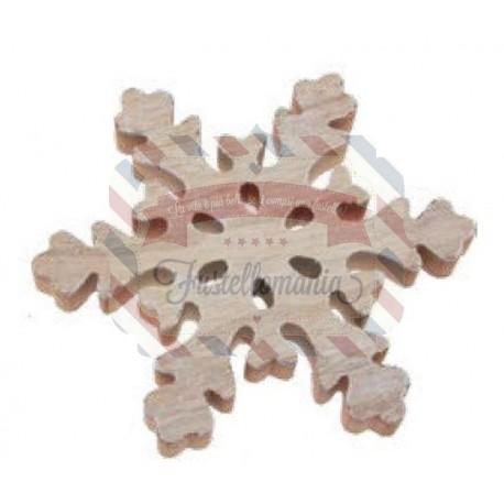 Fiocco di neve in legno 20x2 cm