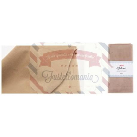Tessuto velluto 50x68 cm colore a scelta