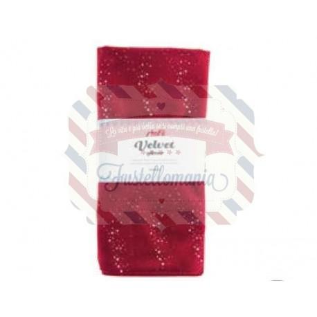 Tessuto velluto con glitter 50x68 cm colore a scelta