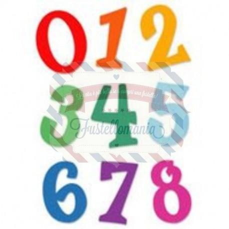 Fustella Sizzix Fun Serif Set numeri