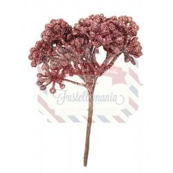 Rametto di pistilli glitter color rosa
