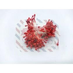 Mazzetto di pistilli colore rosso 1,5 mm 300 pezzi
