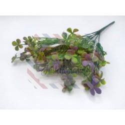 Rametto mini quadrifogli verde sfumato viola