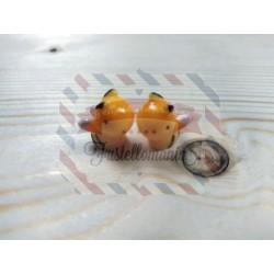 Kit 2 apine deliziose in plastica per decorazioni