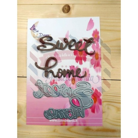 Fustella metallica scritta Sweet Home 4