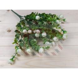 Rametto con rosellina colore bianco