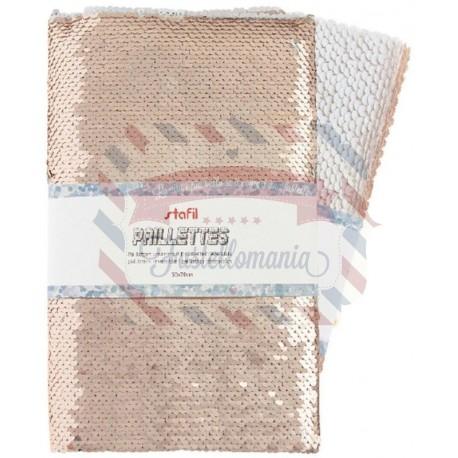 Tessuto paillettes reversibili 50x70 cm colore a scelta