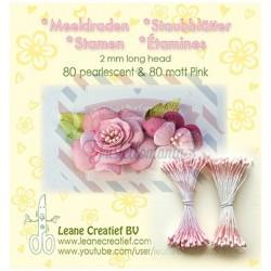 Pistilli decorativi 80 perlescenti e 80 opachi colore rosa
