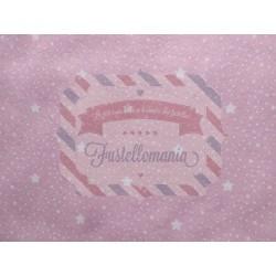 Pannolenci stampato 1mm Miriade rosa misura a scelta
