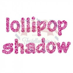 Fustella Sizzix Alfabeto Lollipop shadow